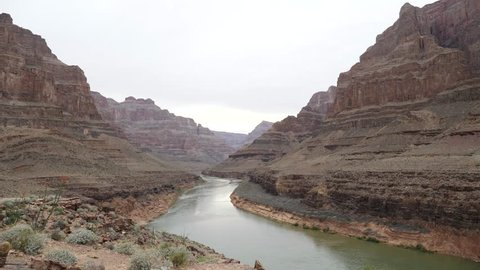 Landscape With River In Grand Canyon Arizona Usa