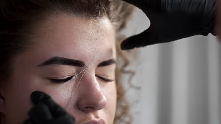 Eyebrows Threading Royalty Free Stock Video In 4k And Hd Shutterstock