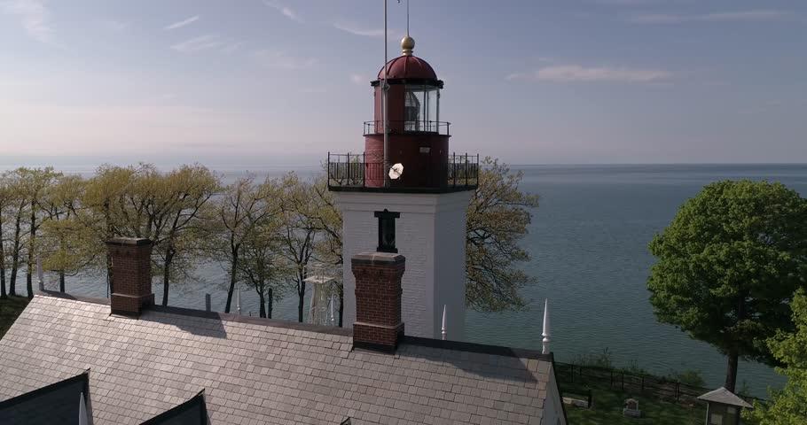 Historic lighthouse in Dunkirk, New York.