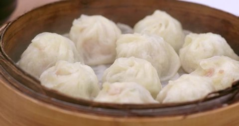 Traditional steamed chinese dumpling