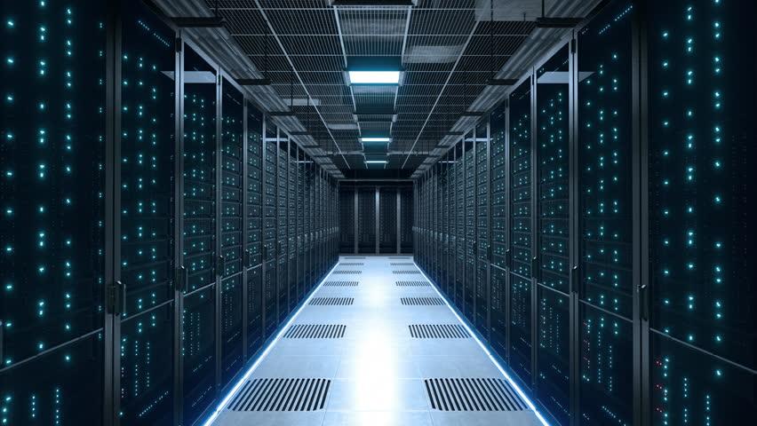 Data center server room power off blackout #1011807341