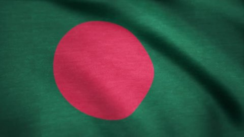 Bangladesh Flag. Background Seamless Looping Animation. Bangladesh Flag. Background Seamless Looping Animation