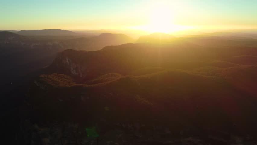 Aerial views of Blue Mountains, Sydney Australia