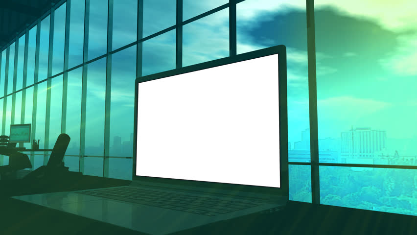 A laptop monitor close-up with an alpha channel | Shutterstock HD Video #1011878231