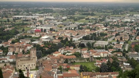 View  the Castle of Marostica, Vicenza - Italy