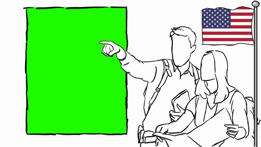 USA  hand drawn tourism | Shutterstock HD Video #1012042541