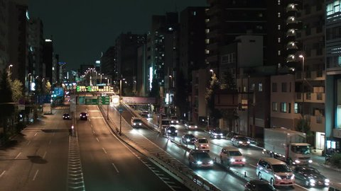 Traffic in the Ueno area, Tokyo