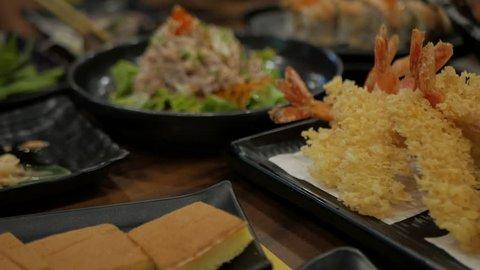 Ebi Tempura. Crunchy Deep fried shrimps in Japanese Cuisine style