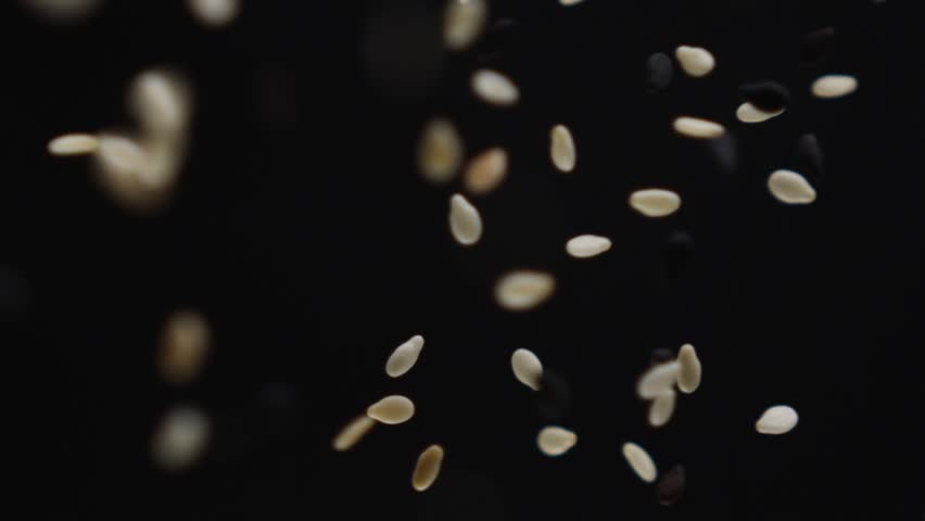 Sesame. They planted sesame. Flying sesame in slow motion.