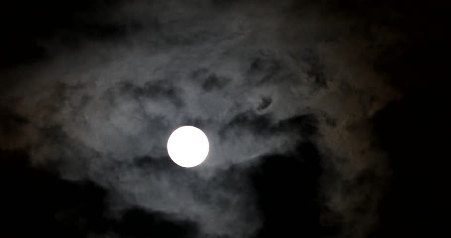 4k Real Time Full Moon In The Cloudy Sky | Shutterstock HD Video #1012200761