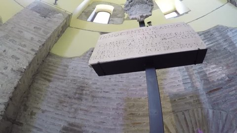 View of the museum of the walls in Rome, Italy. Video by Gopro camera