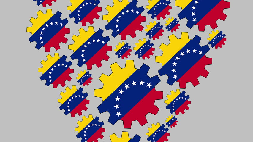 Gears with the venezuelan flag shaping heart zooming out   Shutterstock HD Video #1012481441
