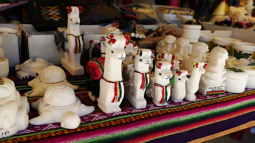 Scene from Boliva South America Slow Motion of trinkets and market items | Shutterstock HD Video #1012522241
