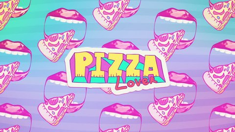 Minimal motion fast food art. Pizza lover