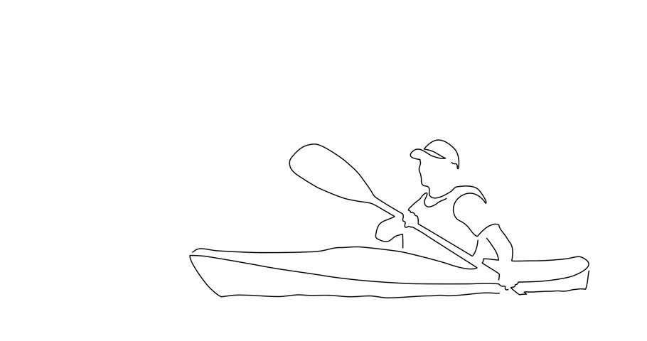 Canoeist line drawing, vector illustration design. Outdoor sports collection. | Shutterstock HD Video #1012640081