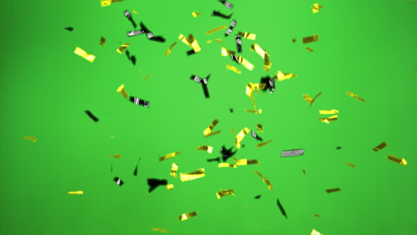 Confetti bomb in the colors black, yellow with green screen Real Confetti  for party and celebrations  | Shutterstock HD Video #1012665701