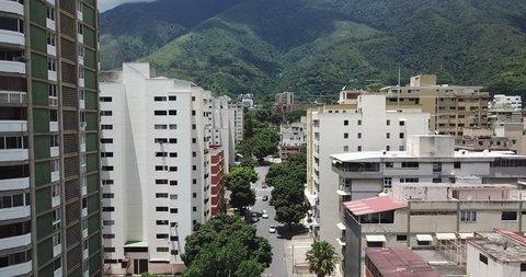 Charming tour between buildings, Los Palos Grandes, Caracas, Venezuela