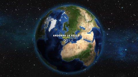 ANDORRA ANDORRA LA VELLA ZOOM IN FROM SPACE