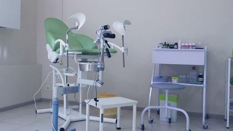 Gynecologist's office interior
