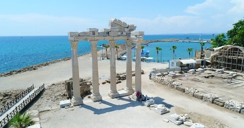 Archaeological Ruins Of The Era Of Ancient Greece On 01 June, 2018 In Side, Turkey