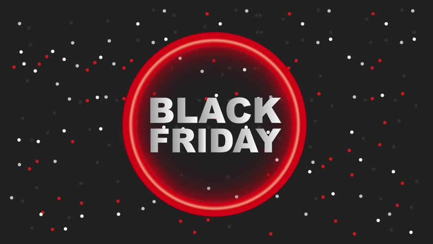 Neon light circle dotted background black friday black friday animation hd | Shutterstock HD Video #1012873991