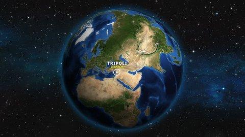LEBANON TRIPOLI ZOOM IN FROM SPACE