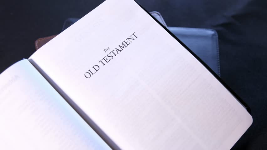 The Old Testament Title Page in the Holy Bible 02 | Shutterstock HD Video #1012948601
