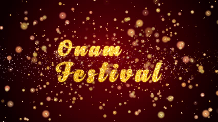 Onam festival stock video footage 4k and hd video clips shutterstock onam festival greeting card text with sparkling particles shiny background for celebrationwishesevents m4hsunfo