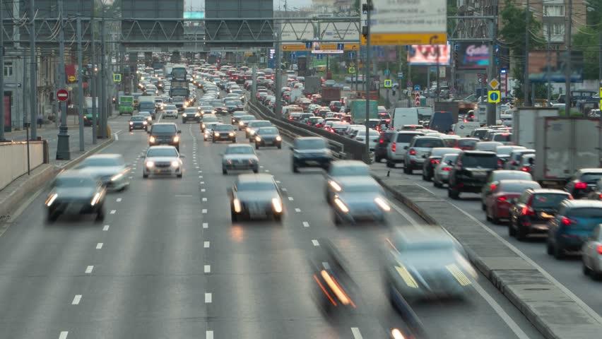 Huge Car Traffic on a City Highway Timelapse Motion | Shutterstock HD Video #1013063081