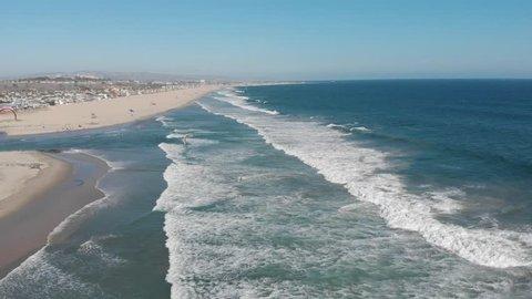 Newport Beach California Kite Surfer Aerial Footage