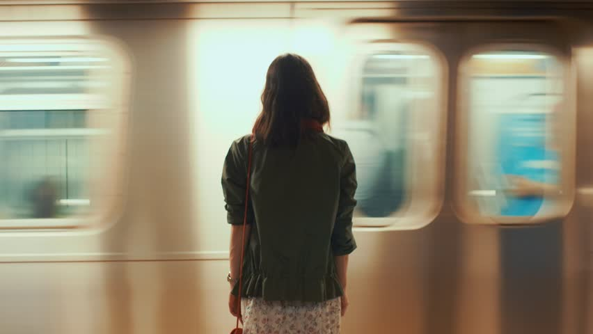 Young girl in the New York subway | Shutterstock HD Video #1013150201