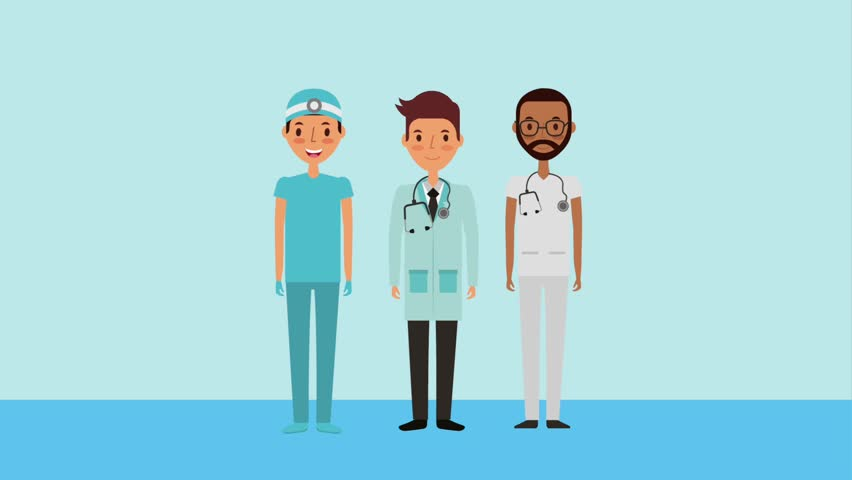 male group staff medical doctor nurse surgeon