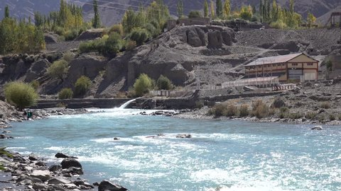 Indus river at Leh Ladakh, Northern India
