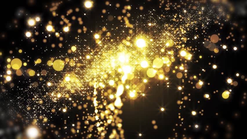Lights gold bokeh background. Elegant golden abstract. Disco background with circles and stars. Christmas Animated background. Space background. Seamless loop. | Shutterstock HD Video #1013357591