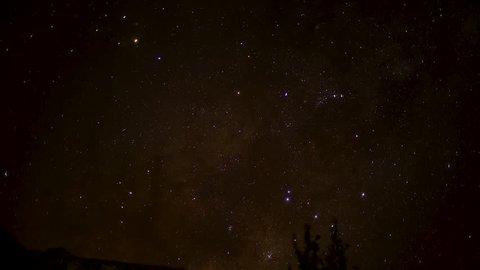 A short timelapse of the stars in the Drakensberg