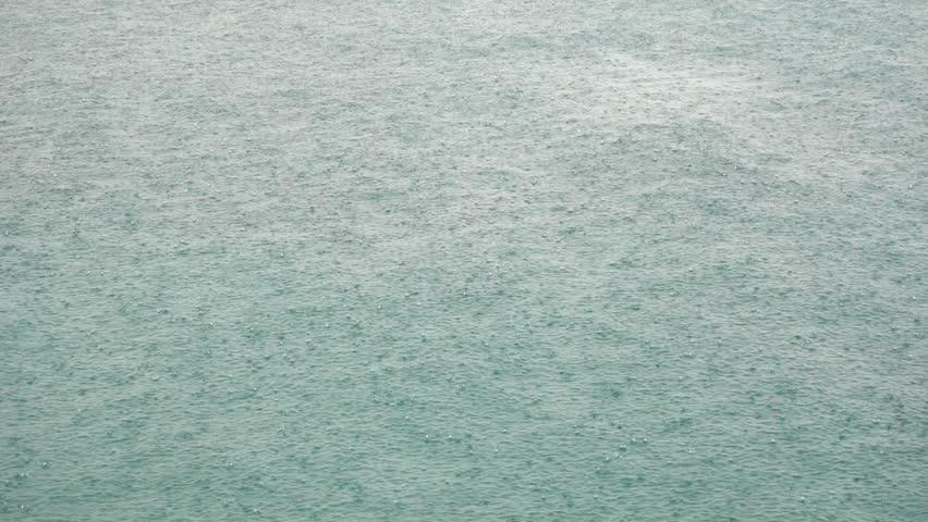 Heavy Rain Drops Falling On The Lake Water Surface | Shutterstock HD Video #1013428811