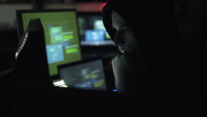Black hat hacking a computer network, accessing data and stealing private information, cyber security and malware concept | Shutterstock HD Video #1013580521