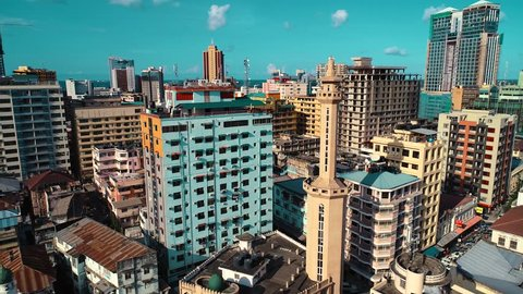 aerial view of the city of dar es salaam