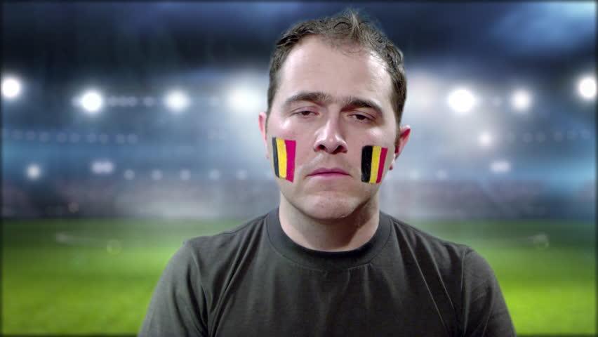 Frustrated Belgium fan | Shutterstock HD Video #1013648201