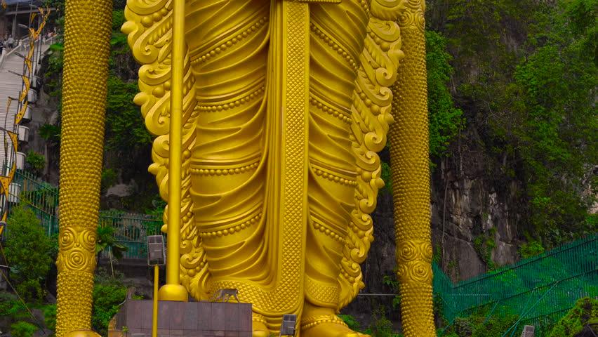 Statue of hindu god Muragan, Batu Caves Temple complex in Kuala Lumpur, Malaysia