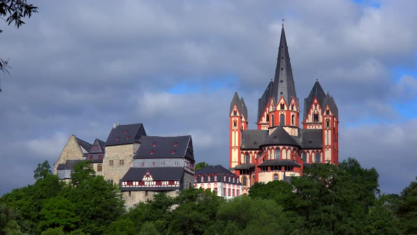 Cathedral and Landgrave Castle, Limburg an der Lahn, Westerwald, Hesse, Germany, Europe