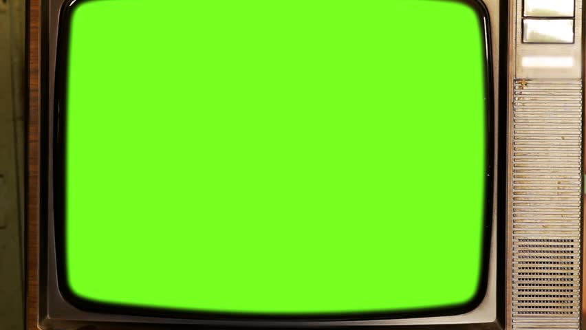 80s Television with Green Screen. Tobacco Tone. Zoom Out.  | Shutterstock HD Video #1013886851