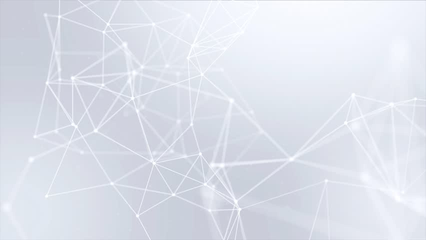 Clean White Abstract polygonal Digital Concept Geometrical Polygon Plexus Fractals Moving low poly Technologies Minimalist design element Seamless loop background for corporate business presentation | Shutterstock HD Video #1013908601