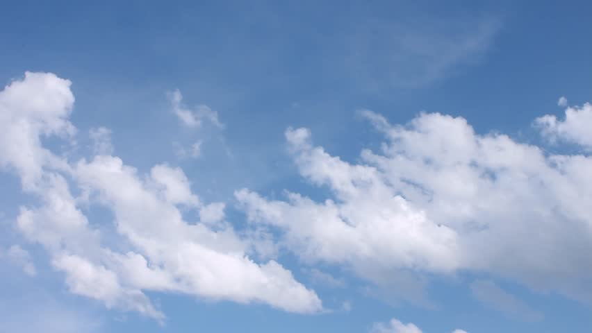 Loop features time lapse motion clouds backed by a beautiful blue sky. Very beautiful blue panoramic skies in summer sunny day. Fast motion. 4K, Ultra HD. 3840x2160. | Shutterstock HD Video #1013936921