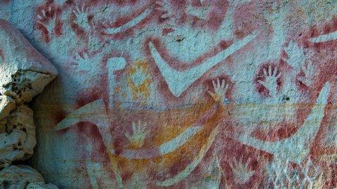 Aboriginal Rock Art Australia Stock Video Footage 4k And Hd Video