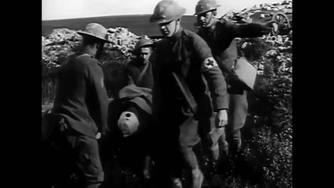 CIRCA 1950s - A historical overview of the Army Medical Corps in World War 1
