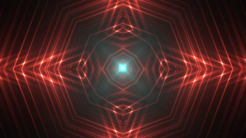 VJ Lights red and blue flashing spot light. Wall stage led blinder blinking neon. Club concert dance disco dj matrix beam fashion. Loop animations.