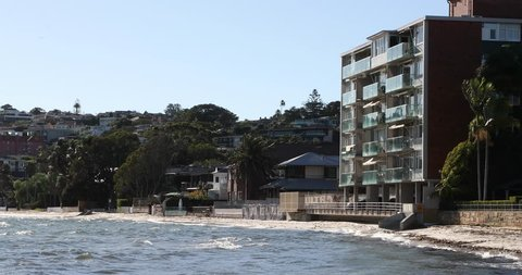 Close shot of beach front appartments in Sydney Australia