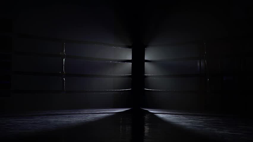 Empty boxing sport ring