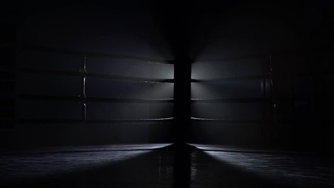 Empty boxing sport ring